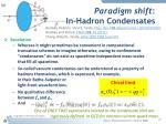 paradigm shift in hadron condensates2