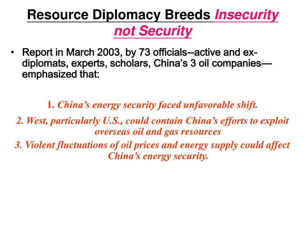 Resource Diplomacy Breeds