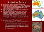 australia s future