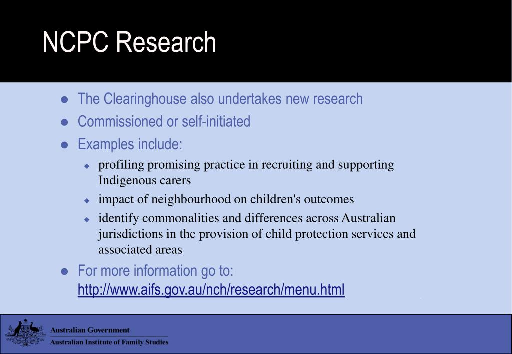 NCPC Research