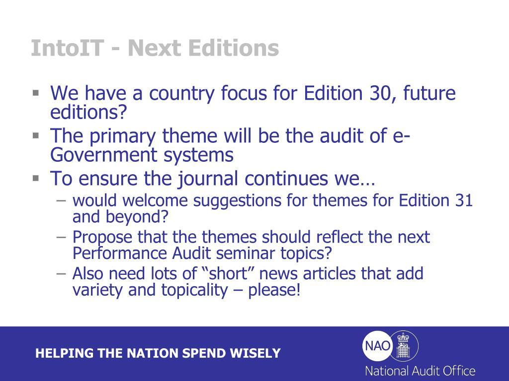 IntoIT - Next Editions