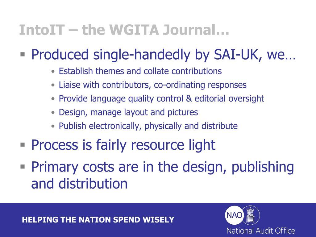 IntoIT – the WGITA Journal…