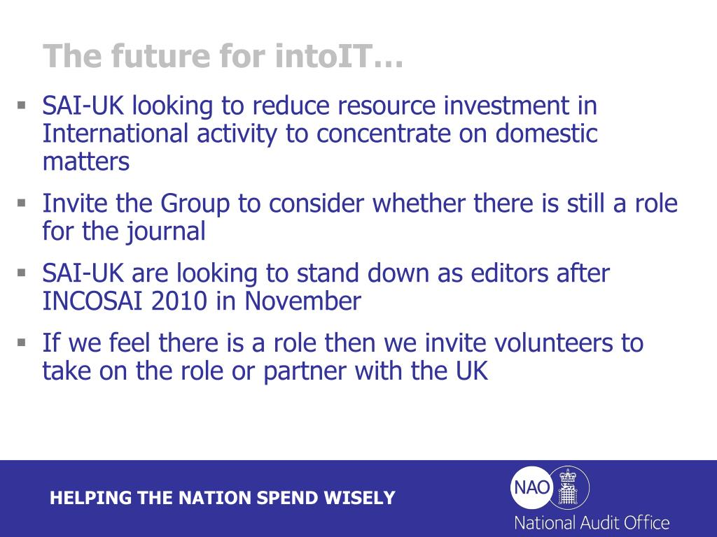 The future for intoIT…