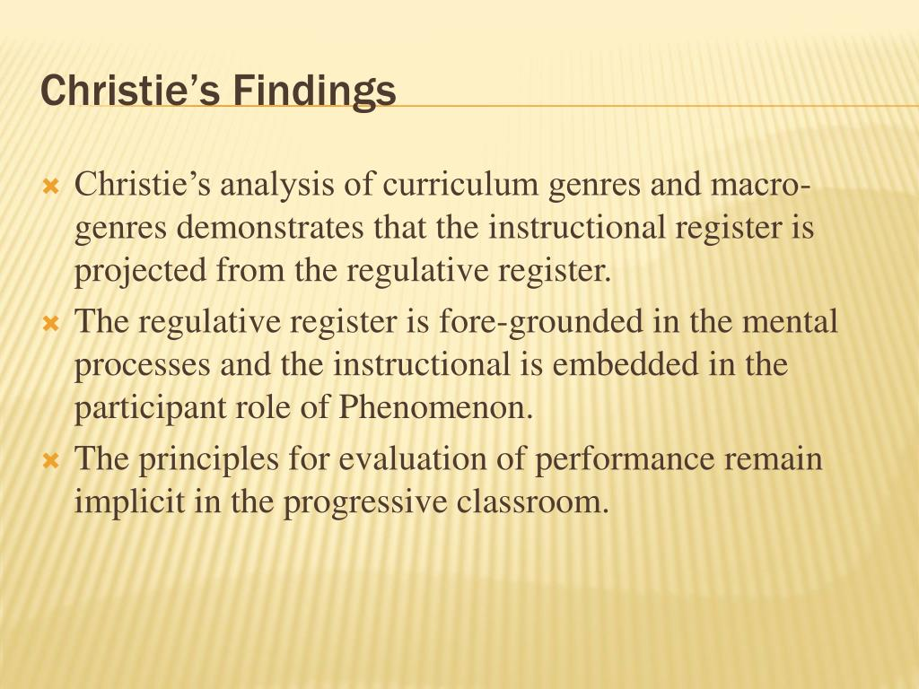 Christie's Findings