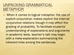 unpacking grammatical metaphor57