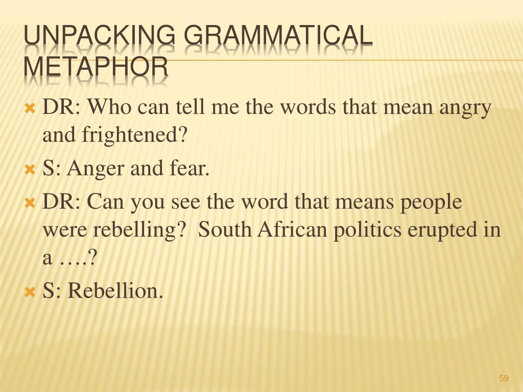 unpacking grammatical metaphor