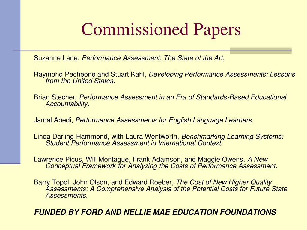 Commissioned Papers