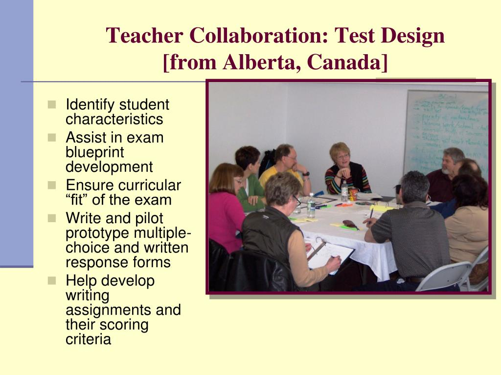 Teacher Collaboration: Test Design