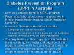 diabetes prevention program dpp in australia