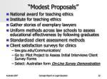 modest proposals
