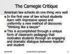 the carnegie critique