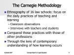 the carnegie methodology