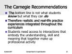 the carnegie recommendations