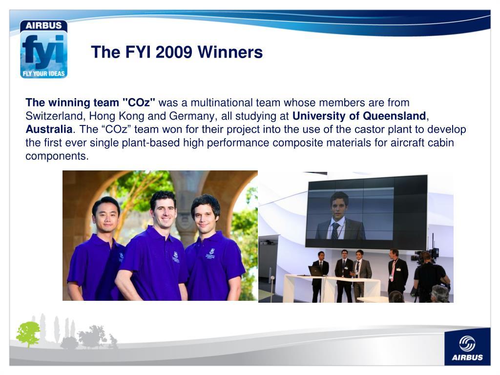 The FYI 2009 Winners