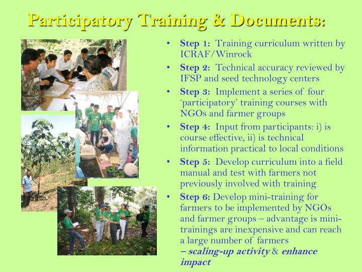 Participatory Training & Documents: