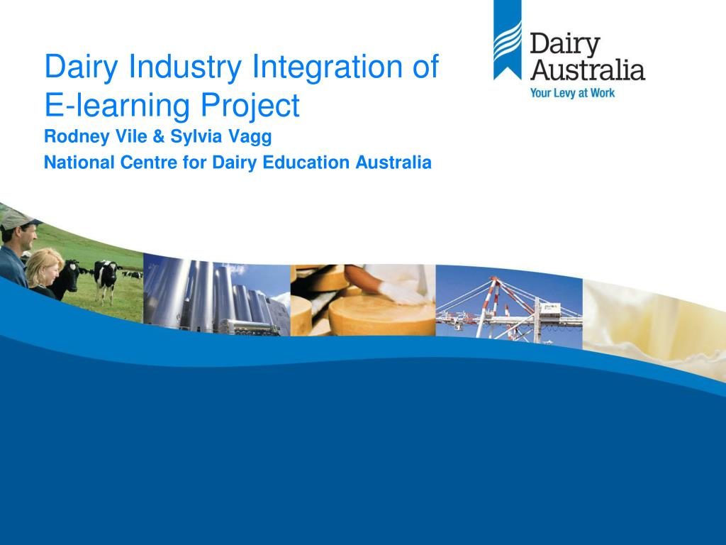dairy industry integration of e learning project