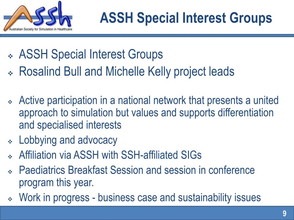 ASSH Special Interest Groups