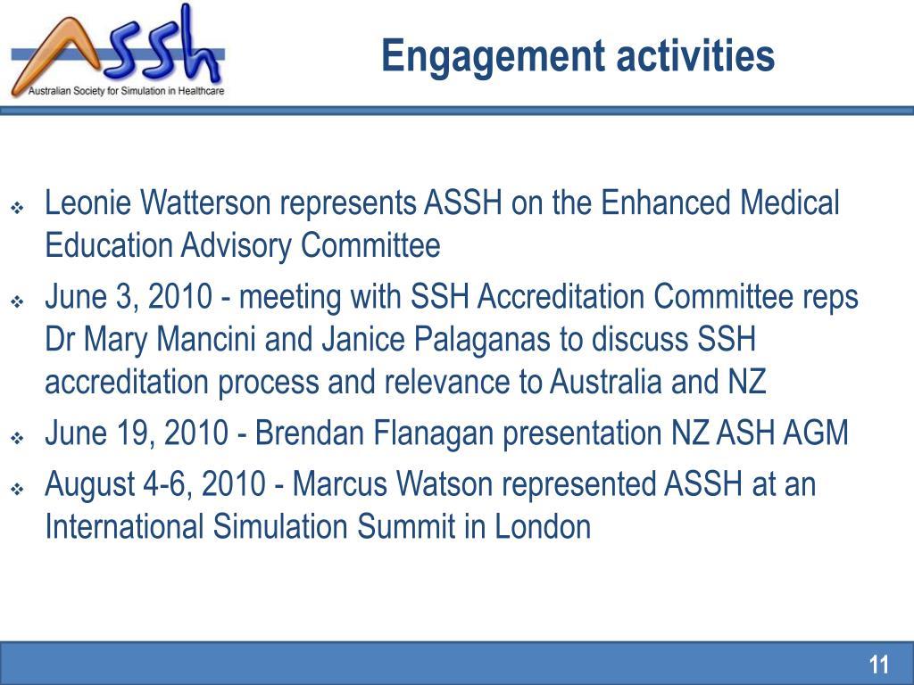 Engagement activities