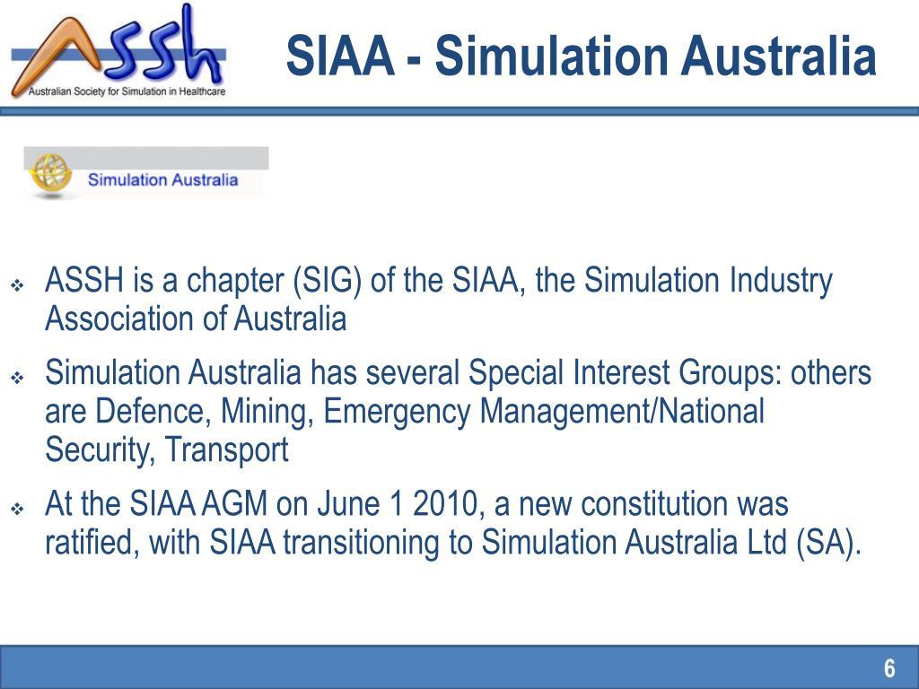 SIAA - Simulation Australia