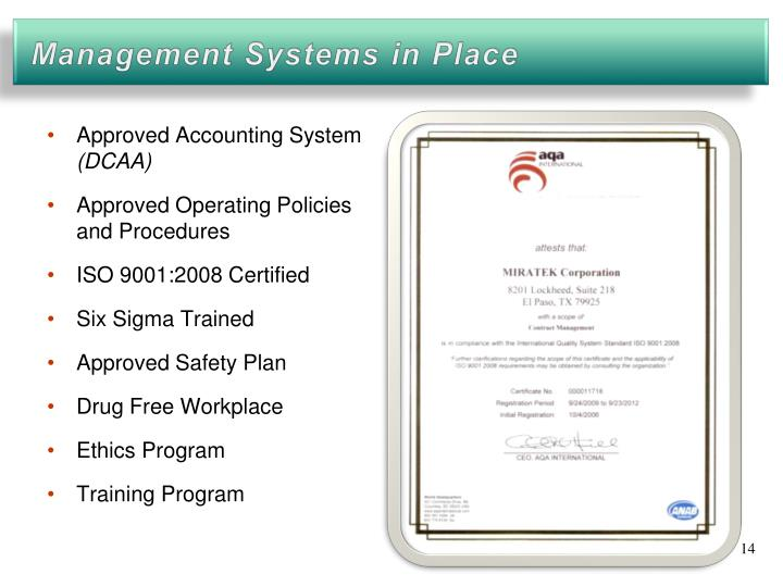 Approved Accounting System