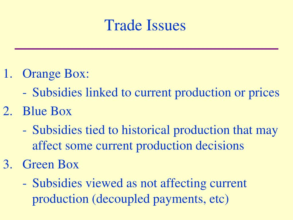 Trade Issues