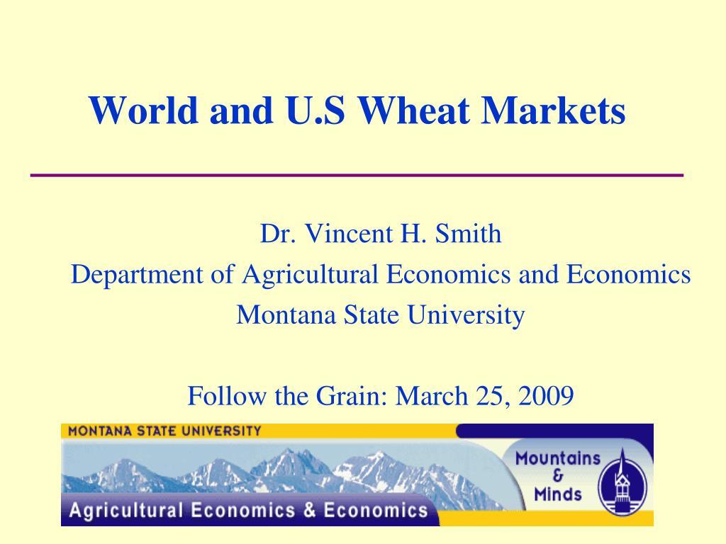 world and u s wheat markets l.
