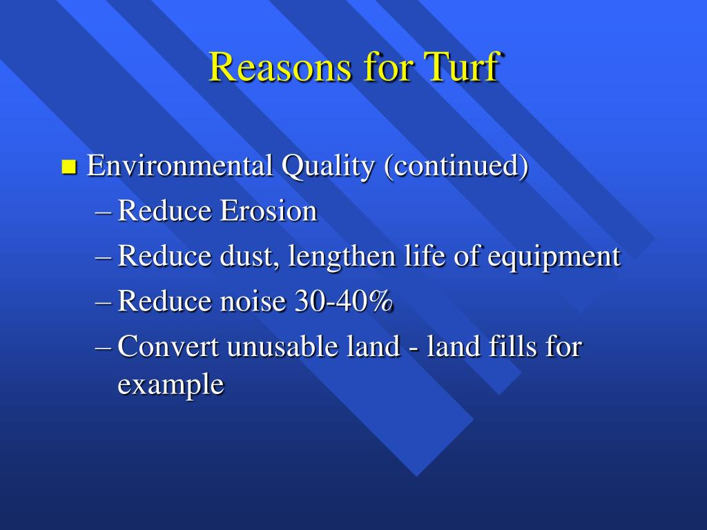 Reasons for Turf