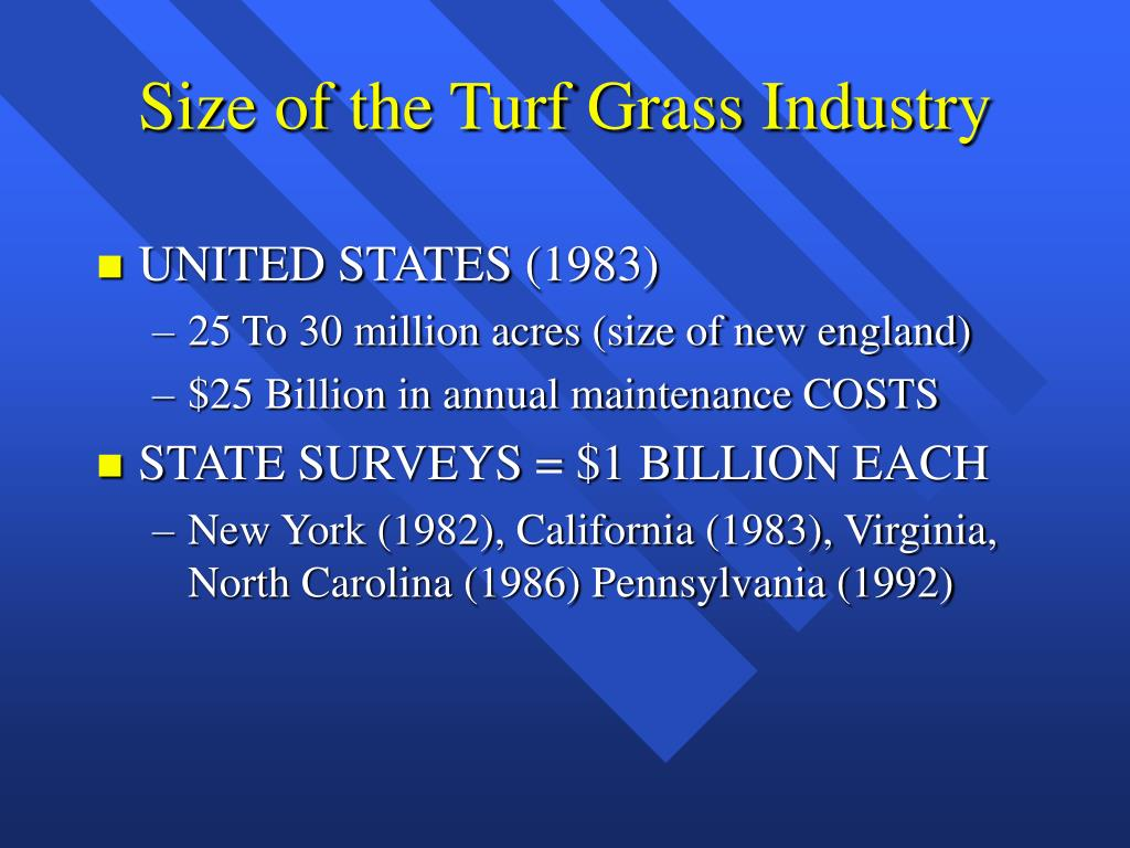 Size of the Turf Grass Industry