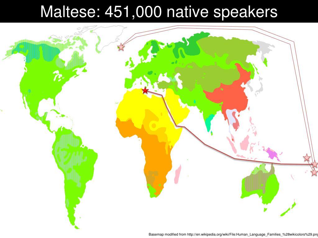 Maltese: 451,000 native speakers