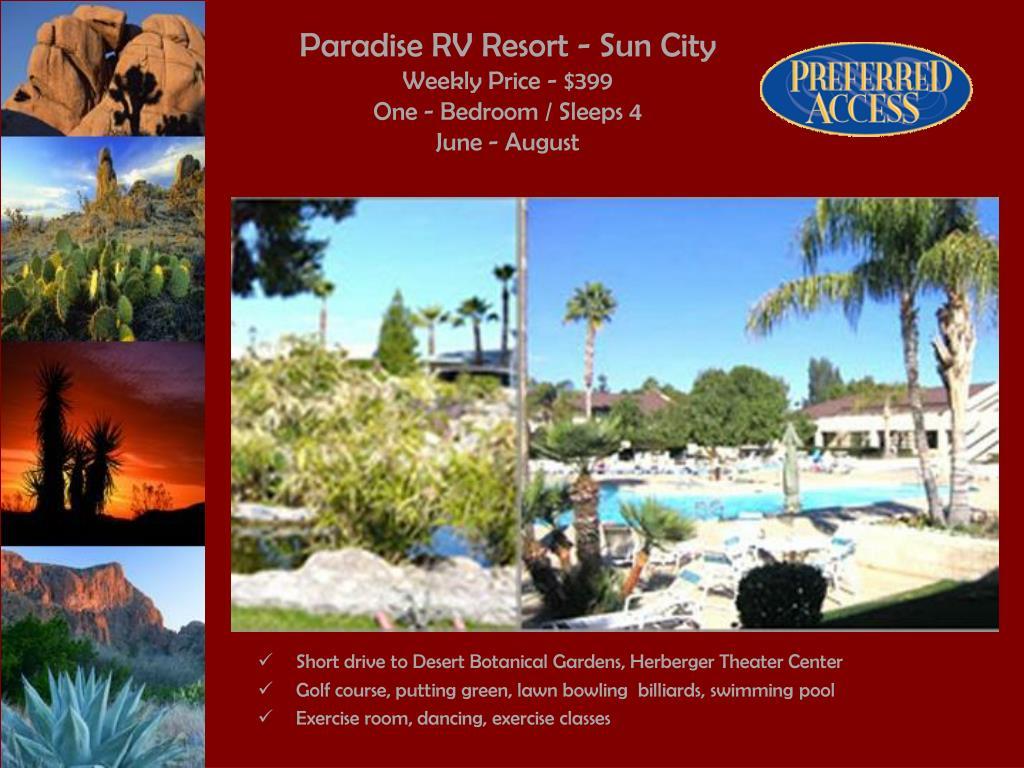 Paradise RV Resort - Sun City