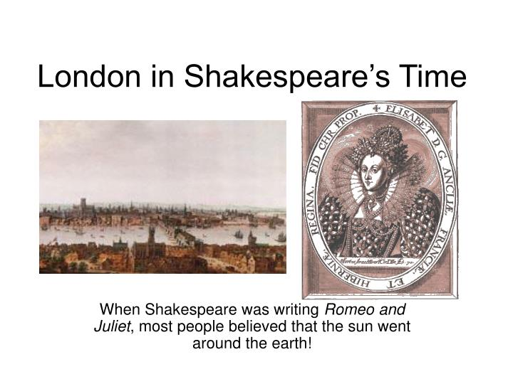 London in shakespeare s time