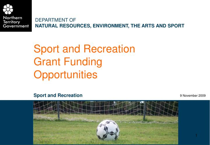 the sport and recreation environment
