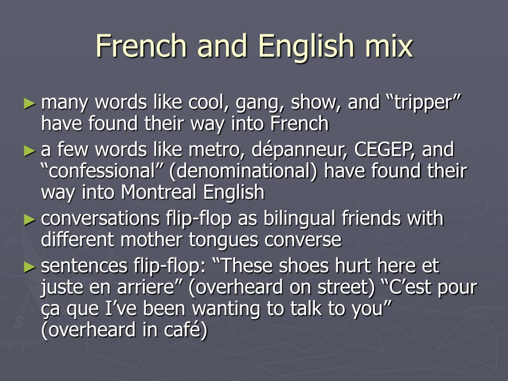 French and English mix