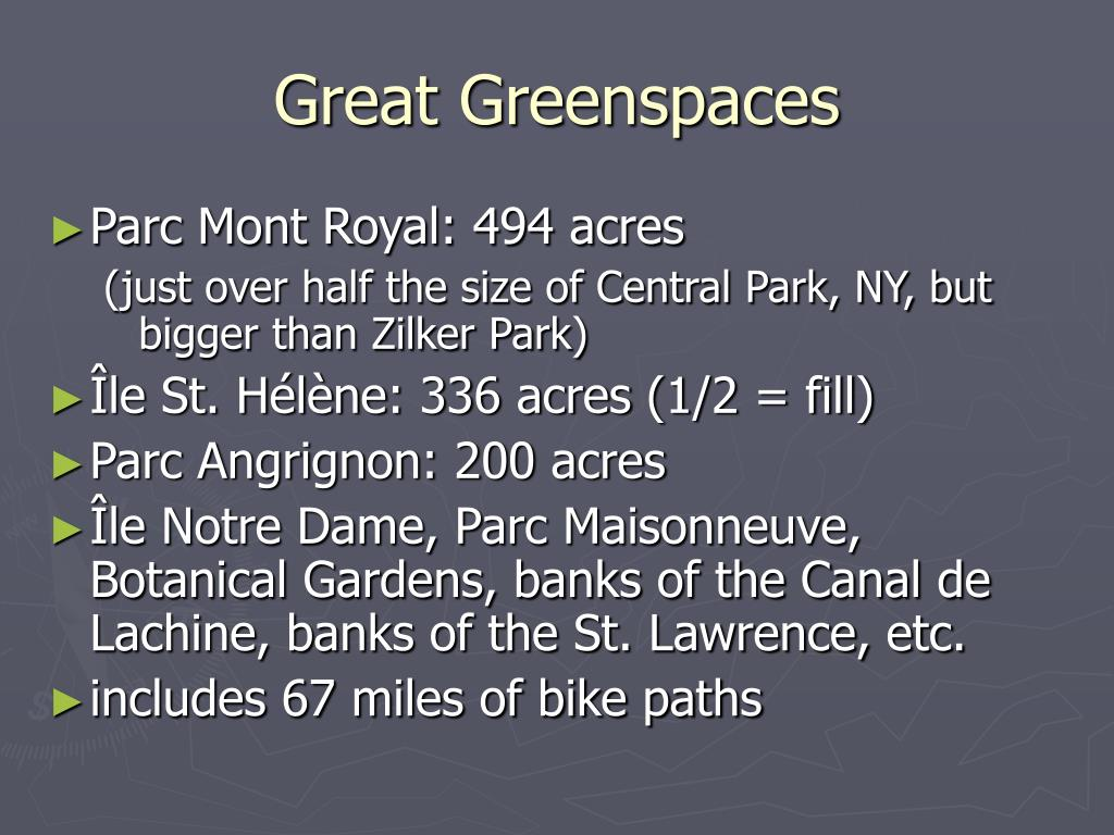 Great Greenspaces