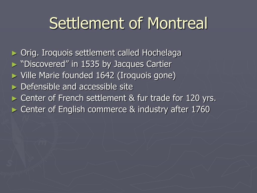 Settlement of Montreal