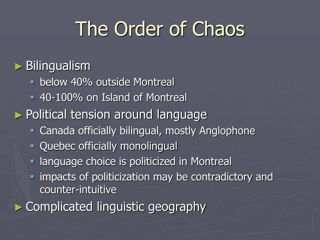 The Order of Chaos