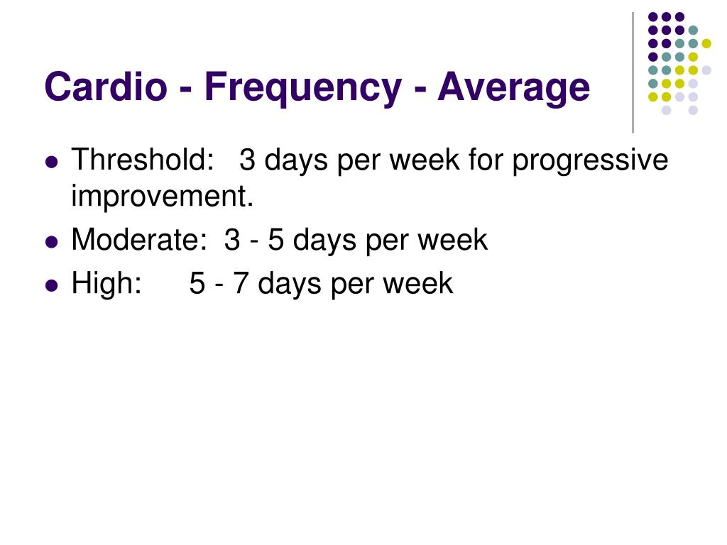 Cardio - Frequency - Average
