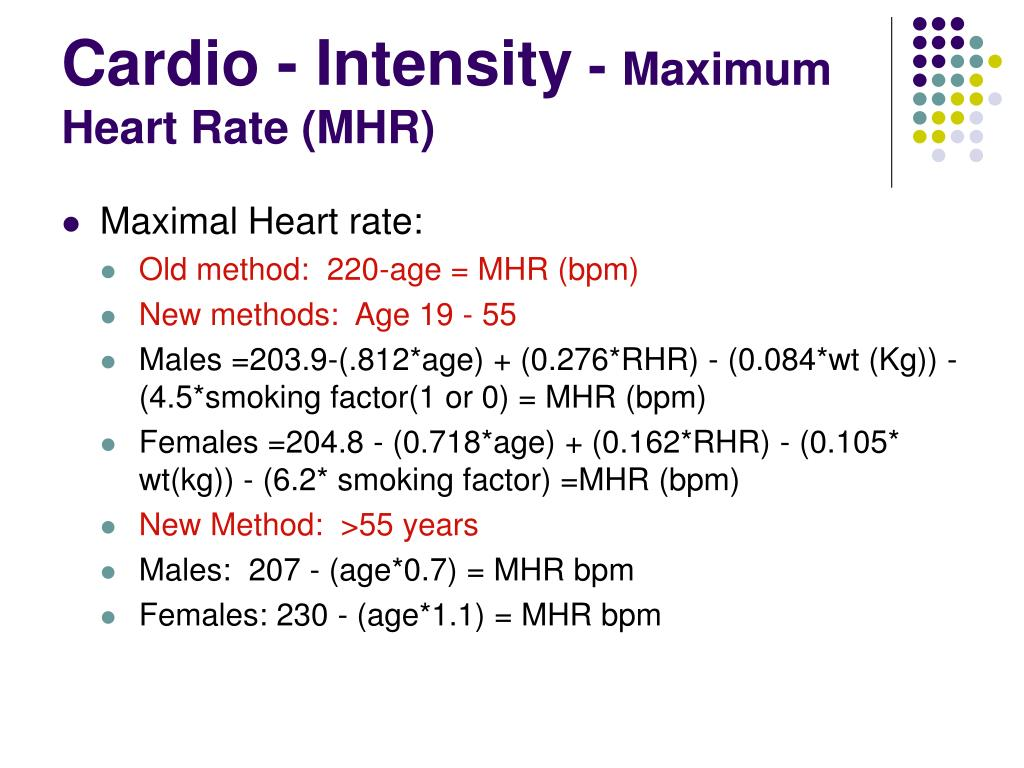 Cardio - Intensity