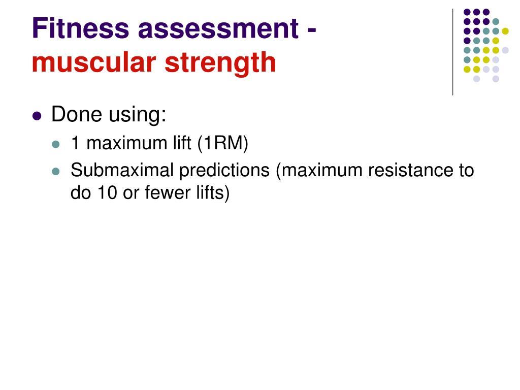 Fitness assessment -