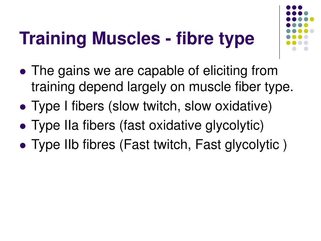 Training Muscles - fibre type