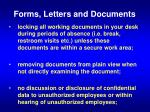 forms letters and documents