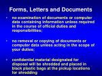forms letters and documents1