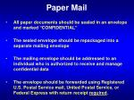 paper mail