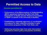 permitted access to data