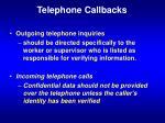 telephone callbacks
