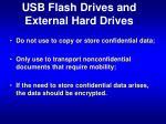 usb flash drives and external hard drives