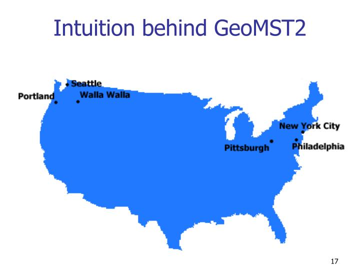 Intuition behind GeoMST2