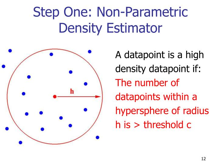 Step One: Non-Parametric Density Estimator