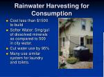 rainwater harvesting for consumption