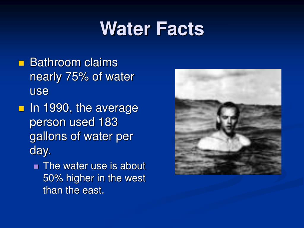 Bathroom claims nearly 75% of water use